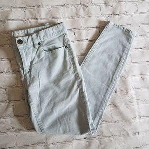 J. Crew Factory Blue Corduroy Toothpick Jeans